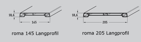 Werzalit Verbindungselement Graubraun für Langprofile S 145 und S 205